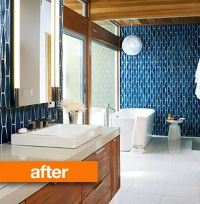 Here's a reno picture of the bathroom that shall never be: done by designer Gina De Pasquale.