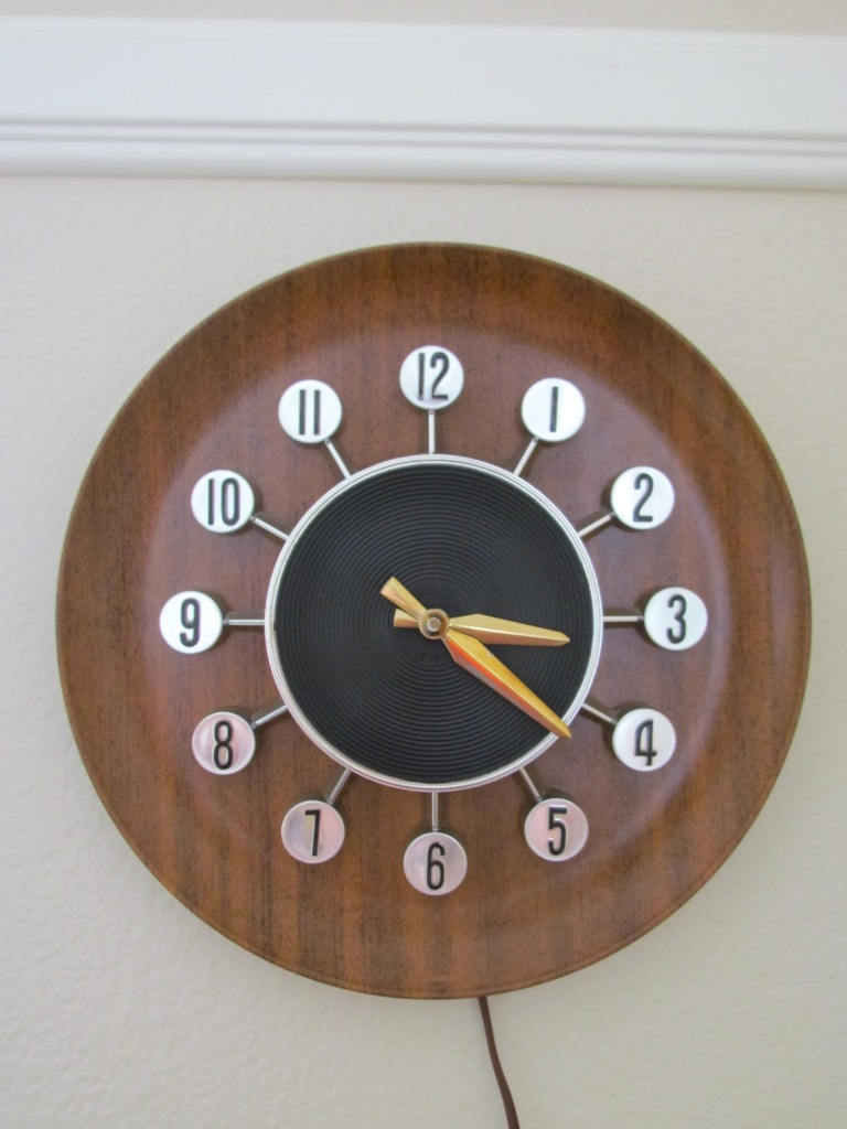 Vintage Spartus clock in working order and near perfect condition found on Etsy.com . Visit https://www.etsy.com/shop/TheAtomicAttic?ref=seller_info for more!