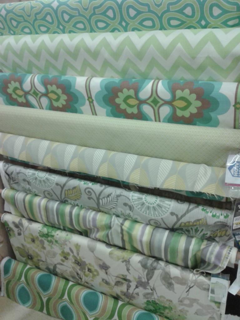 HGTV Fabrics spied at Joann's.