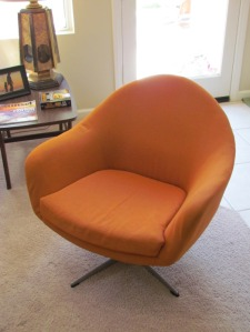 Moreddi Inc chair...pride of place in the living room....BEFORE PHOTO