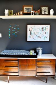 Credenza as a changing table
