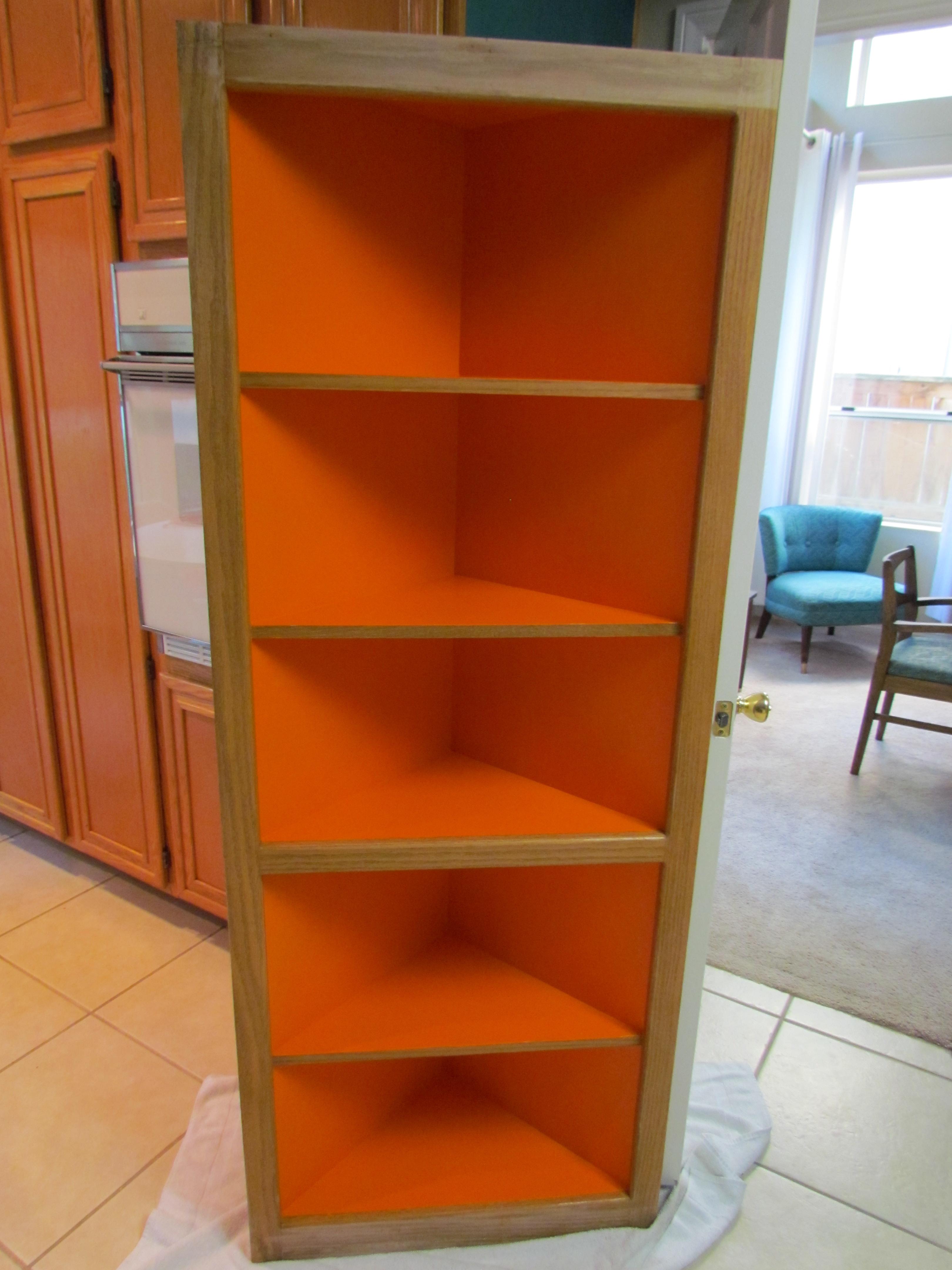 orange bookcases bookshelf before spain after bookcase makeover erin