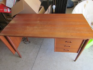 BEFORE: Arne Vodder Danish Teak Desk