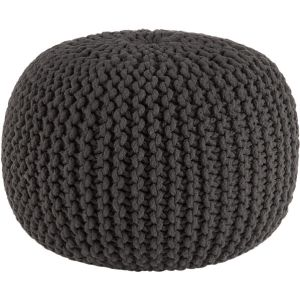 knitted graphite pouf from CB2